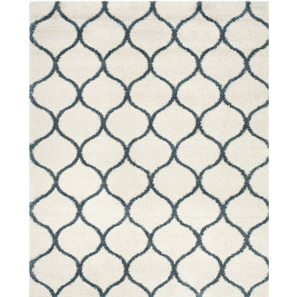 Hampstead Ivory/ Slate Blue Area Rug by Brayden Studio