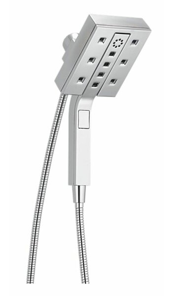Universal Showering Components Multi Function Dual Shower Head with H2okinetic Technology by Delta
