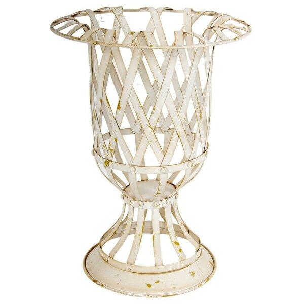 Wesolowski Lattice Metal Urn Planter by Ophelia & Co.