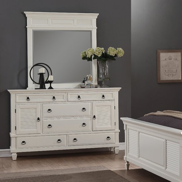 Stratford 6 Drawer Combo Dresser With Mirror By Highland Dunes