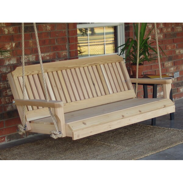 Maisie Cedar Traditional Rope Porch Swing by Millwood Pines