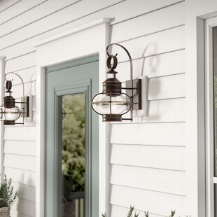 Comparison Phillip 1-Light Outdoor Wall Lantern By Longshore Tides