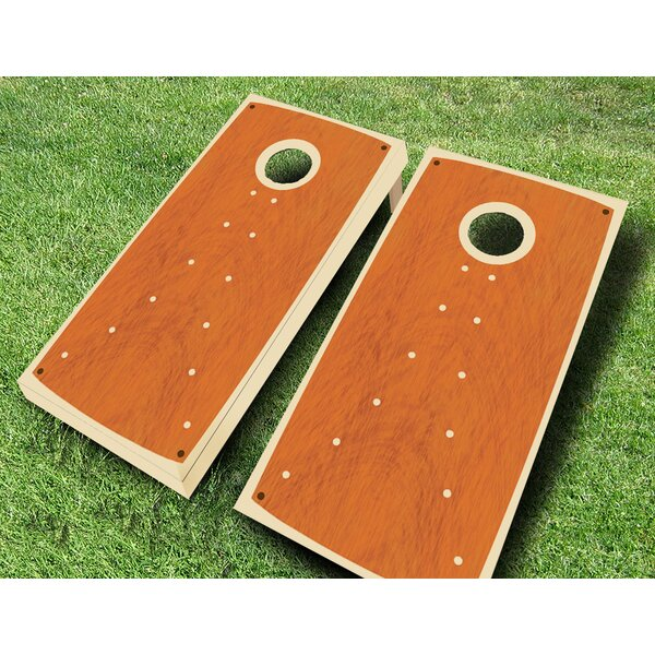 Retro Stained Dotted Cornhole Set by AJJ Cornhole
