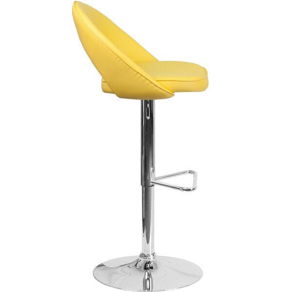 Nealy Adjustable Height Swivel Bar Stool by Orren Ellis