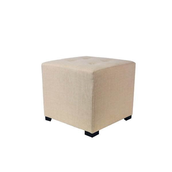 Kirschbaum Tufted Cube Ottoman by Andover Mills