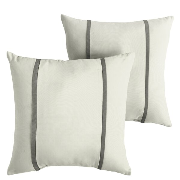 Hollman Indoor/Outdoor Sunbrella Throw Pillow (Set of 2) by Alcott Hill