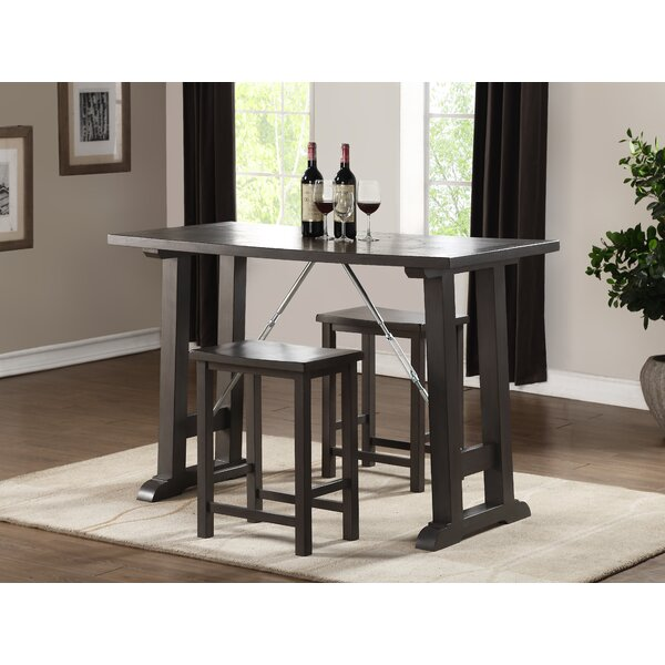 Claribel Counter Height 3 Piece Pub Table Set by 17 Stories