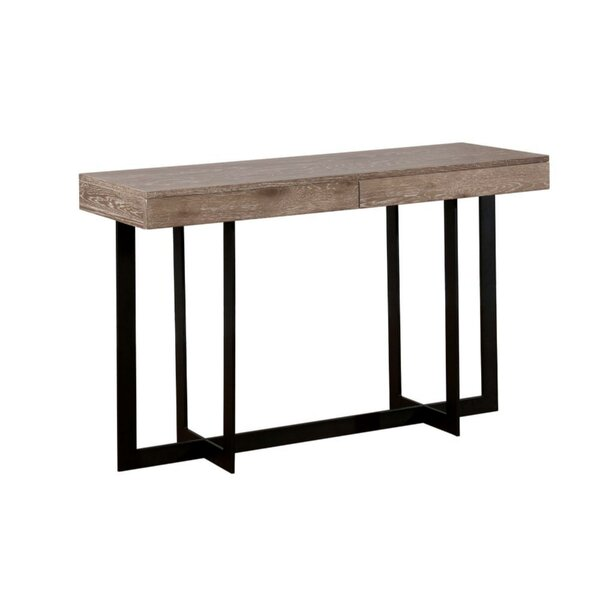 Gunnar Industrial Solid Wood Console Table by 17 Stories 17 Stories