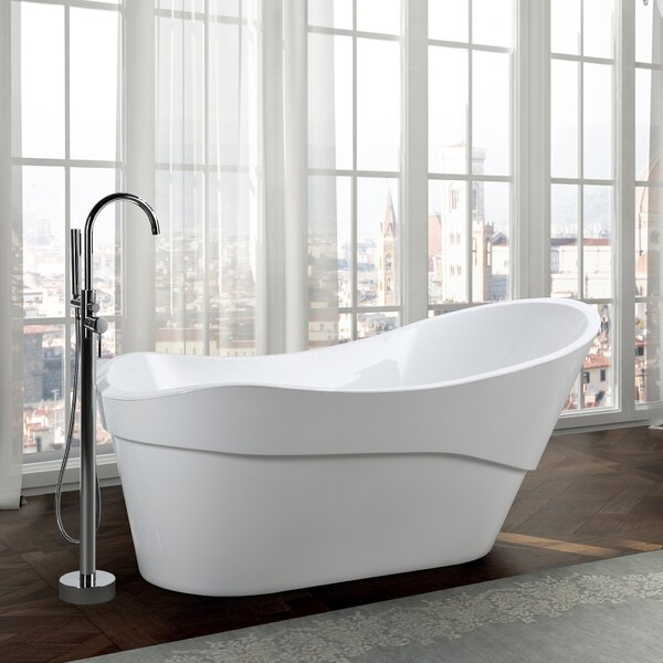 Bari 67 x 32 Freestanding Soaking Bathtub by Bellaterra Home