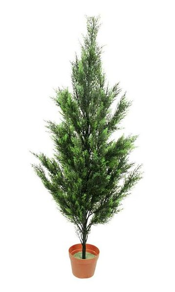 Two-Tone Artificial Cypress Tree in Pot by Northlight Seasonal
