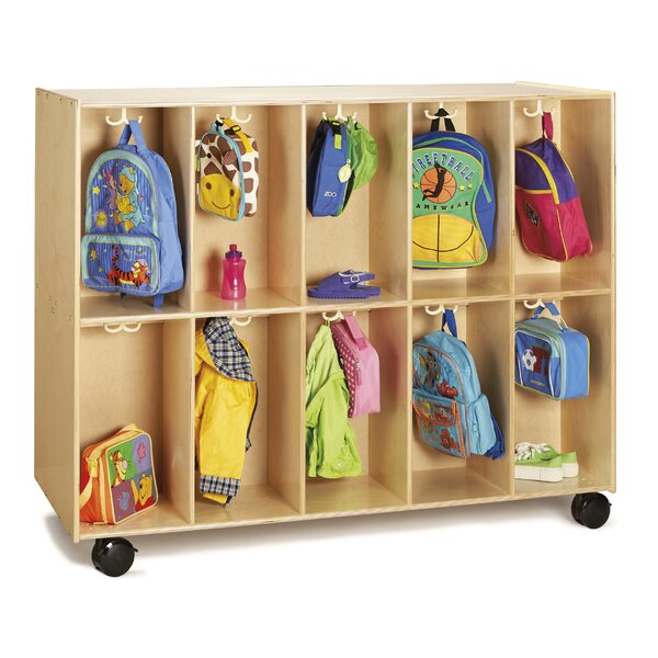 Backpack 10 Compartment Cubby with Casters by Jont