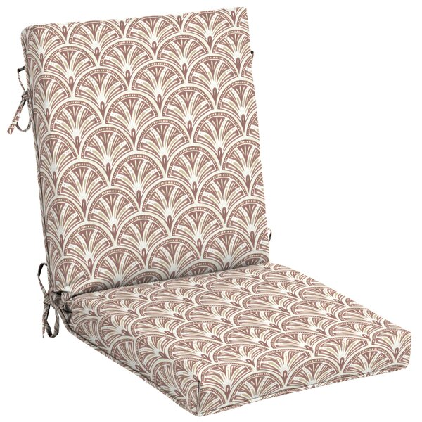 Cooper Deco Geo High Back Outdoor Dining Chair Cushion By Charlton Home
