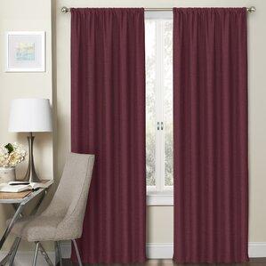 Dunle Solid Blackout Thermal Rod Pocket Curtain Panels Set Of 2