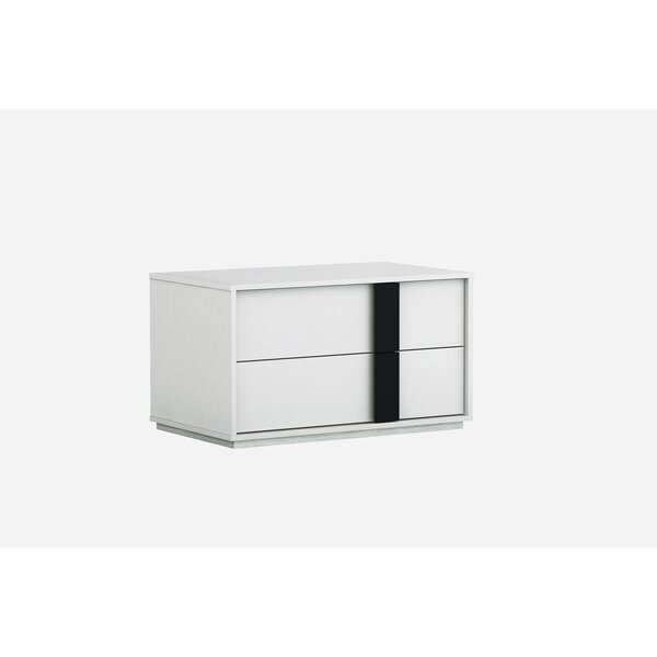Kimberly 2 Drawer Nightstand by Orren Ellis