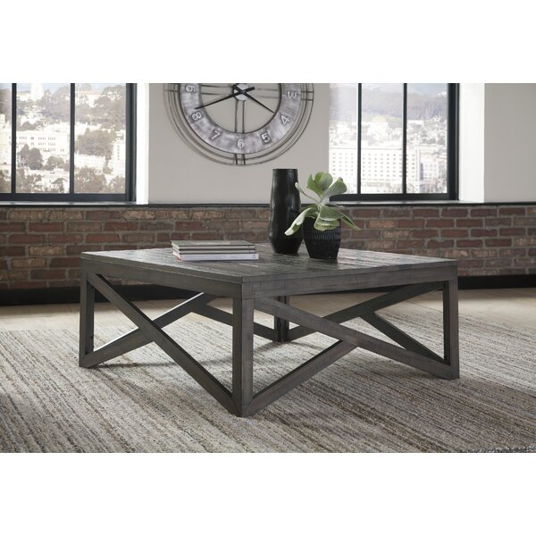 Billingsley Solid Wood Cross Legs Coffee Table by Williston Forge Williston Forge