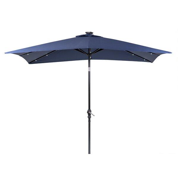 Sun-Ray Solar 7' x 9' Rectangular Market Umbrella by J&J Global LLC