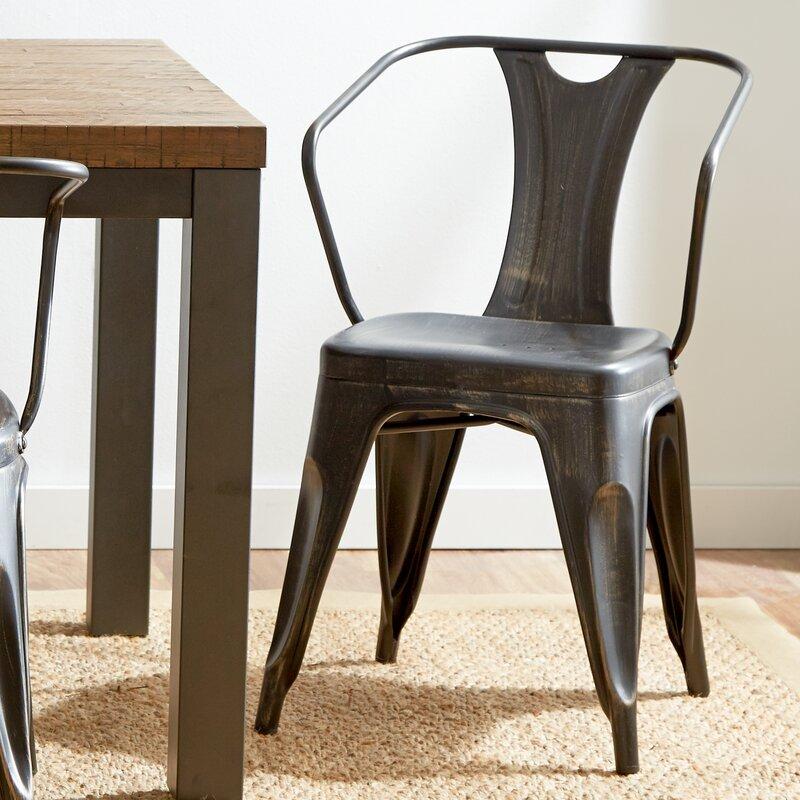 Mercury row industrial arm chairs reviews wayfair