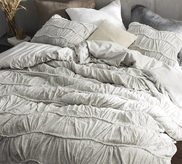 Adelheide Texture Duvet Cover by One Allium Way