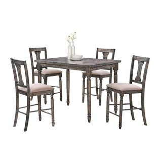 Larissa Wooden 5 Piece Counter Height Dining Set By Ophelia & Co.