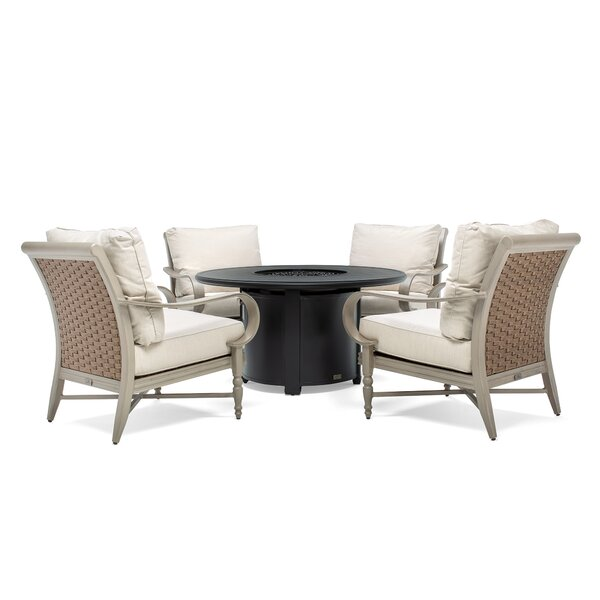 Beckwith 5 Piece Dining Set with Cushions by Canora Grey
