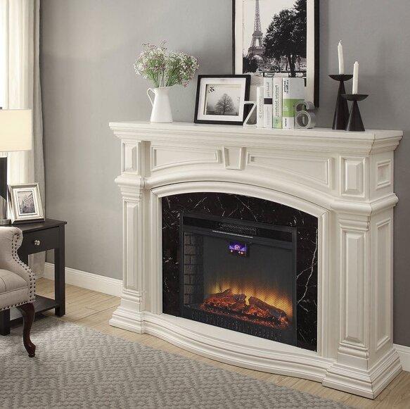 Wynne Electric Fireplace by Alcott Hill