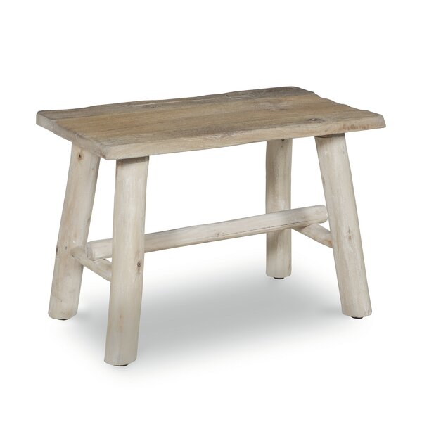 Emerita Wooden Accent Stool by Millwood Pines