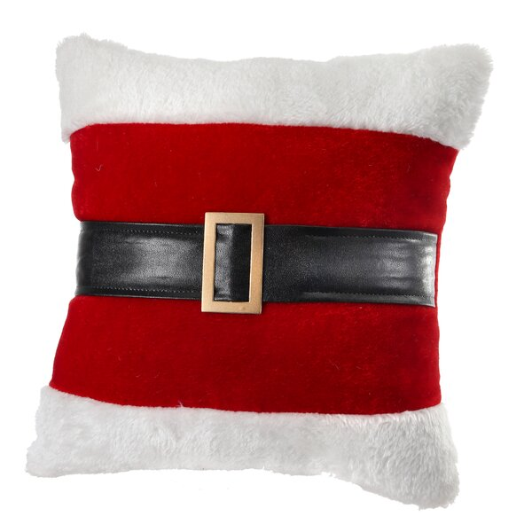 Santa Belt Fabric Throw Pillow by Regency International