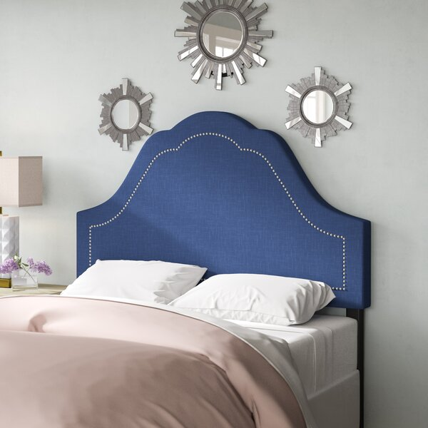 Evie Inset Nail Button Arch Upholstered Panel Headboard by Willa Arlo Interiors