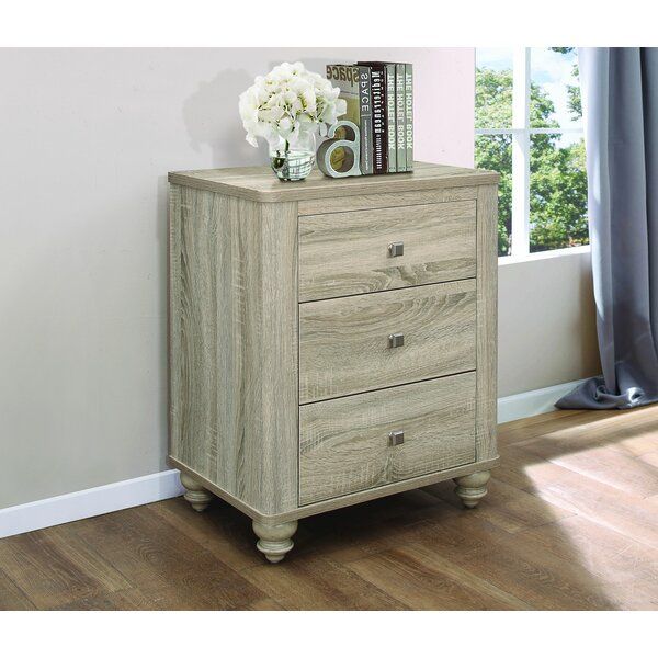 Barbagallo 3 Drawer Nightstand by August Grove