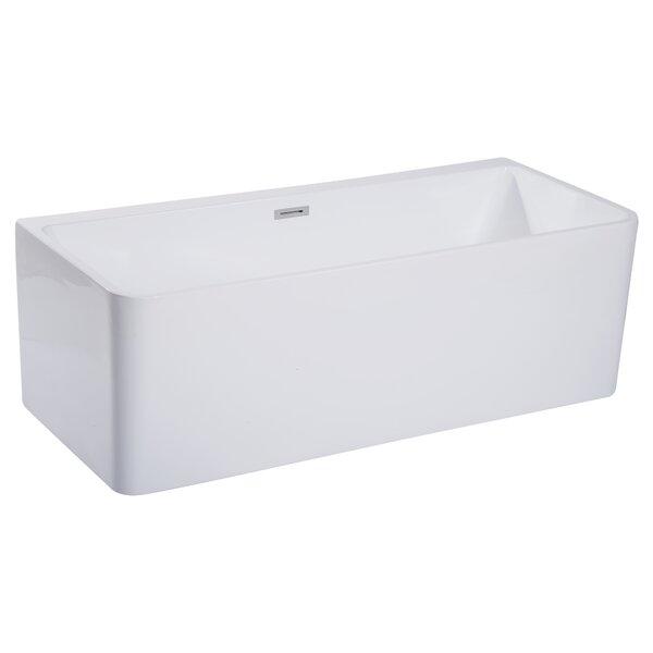 Rectangular Acrylic 67 x 29.4 Freestanding Soaking Bathtub by Alfi Brand