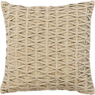 Sasu Textured Beige Throw Pillow