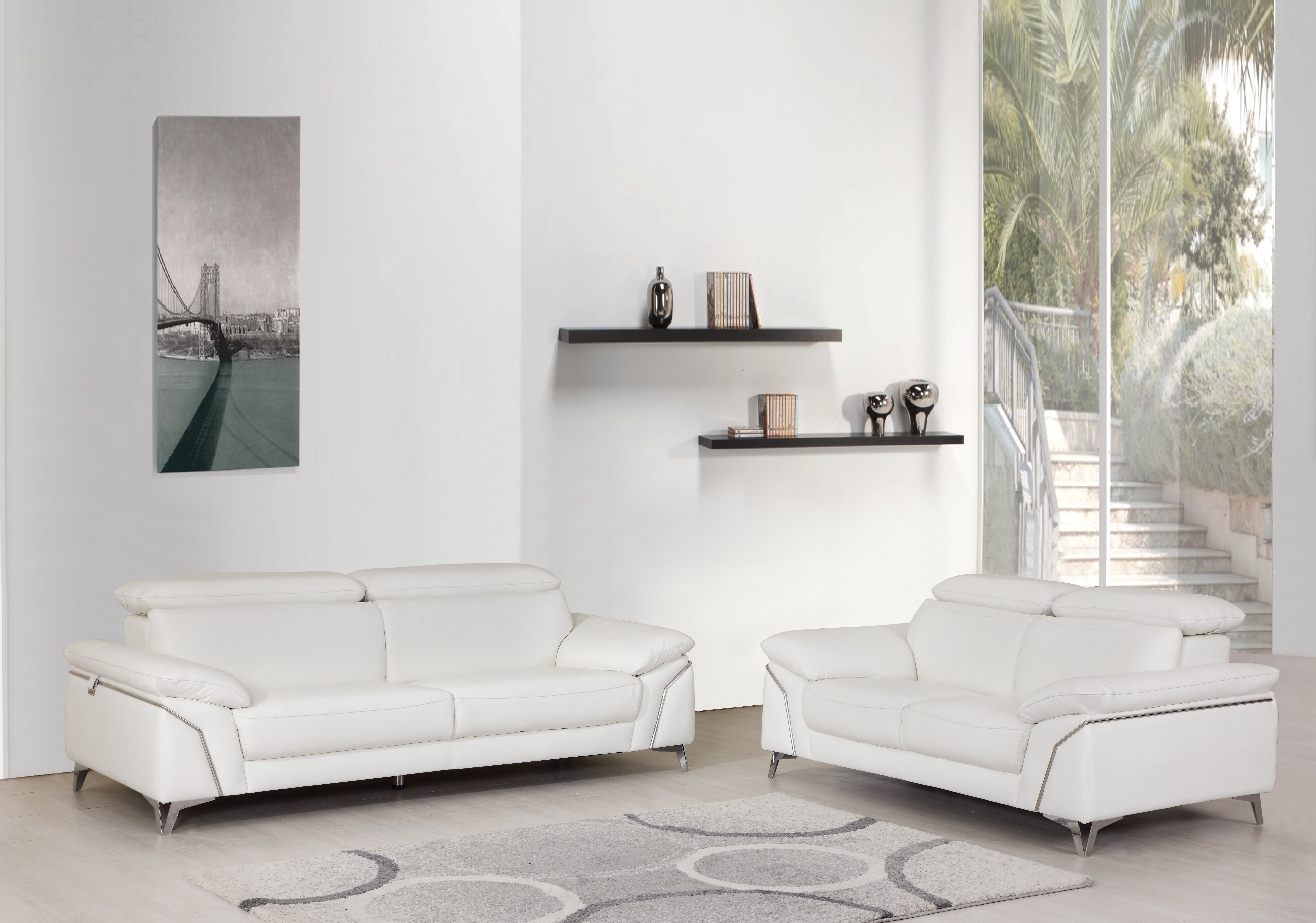 Almaden 2 Piece Leather Living Room Set