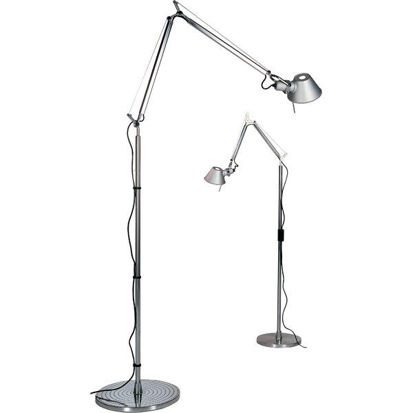 Tolomeo 40.56 Micro LED Swing Arm Floor Lamp by Artemide