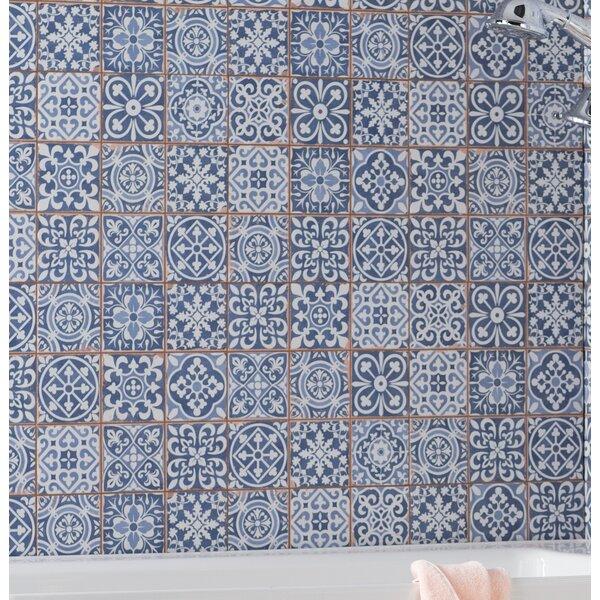 Faventie Azul 13 x 13 Ceramic Field Tile in Blue by EliteTile