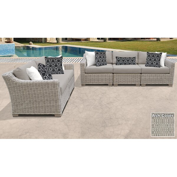 Claire 5 Piece Sofa Seating Group with Cushions by Rosecliff Heights Rosecliff Heights