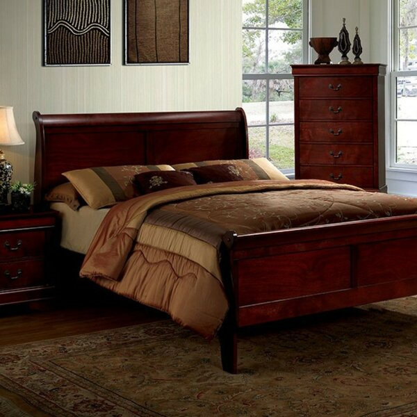St. Mark inchs Place Sleigh Bed by Charlton Home