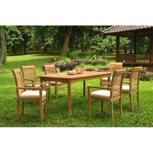 Friedell 7 Piece Teak Dining Set by Rosecliff Heights