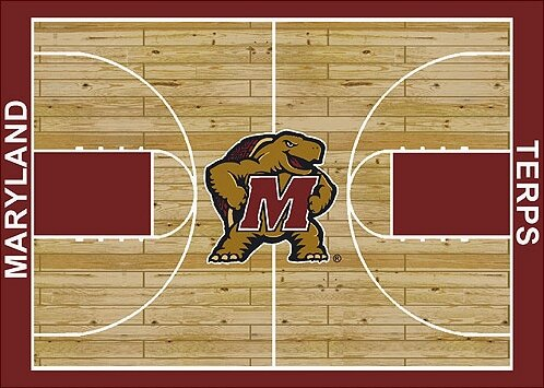 NCAA College Home Court Maryland Novelty Rug by My Team by Milliken
