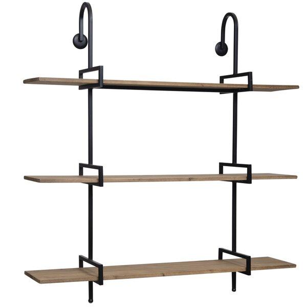 Neruda Tier Metal and Wood Wall Shelf by Gracie Oaks