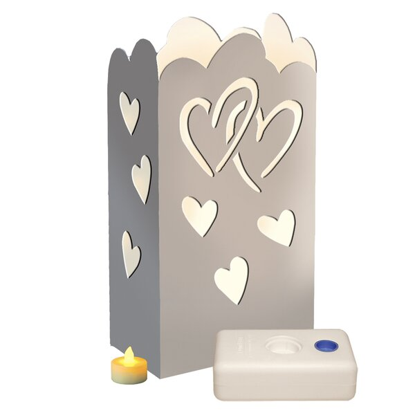 Luma Lantern Heart Kit (Set of 24) by Luminarias