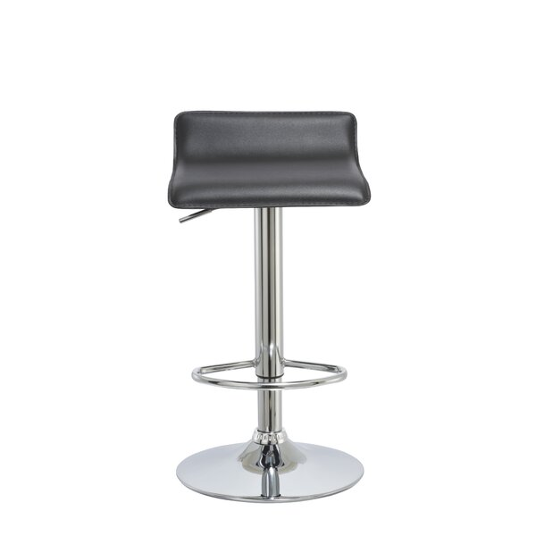 Kovacs Adjustable Height Swivel Bar Stool by Orren Ellis