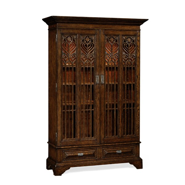 Gothic Lighted Curio Cabinet by Jonathan Charles Fine Furniture