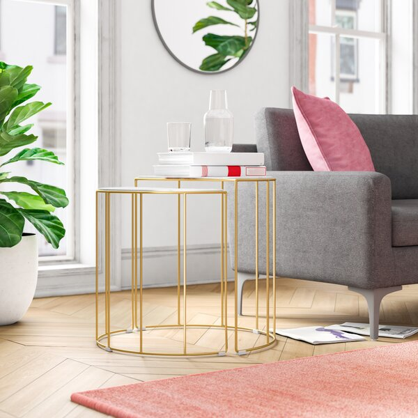 Campion 2 Piece Nesting Tables By Everly Quinn