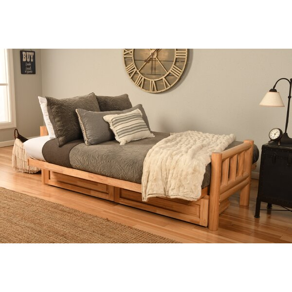 Fausley Full Loose Back Futon And Mattress By Millwood Pines