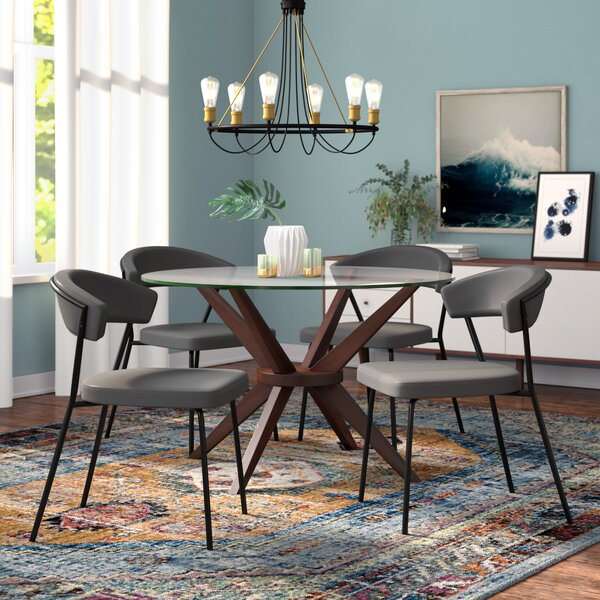 Serna Upholstered Dining Chair Set (Set of 4) by Modern Rustic Interiors
