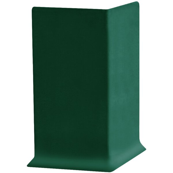 2.25 x 4 x 2.25 Cove Molding in Forest Green (Set of 25) by ROPPE