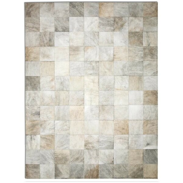 Patchwork Cowhide Park Light Brindle Area Rug by Pure Rugs