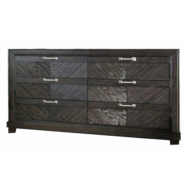 Kandace Transitional Wooden 6 Drawer Double Dresser by Foundry Select