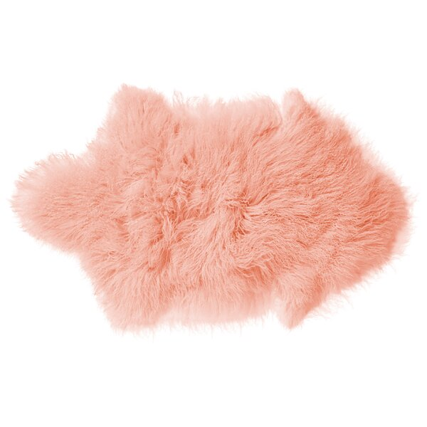 Jamison Faux Sheepskin Nude Area Rug by Viv + Rae