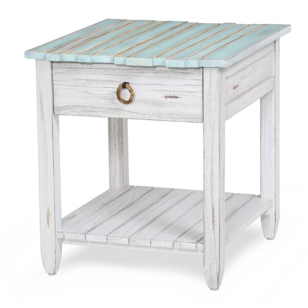 Decastro End Table with Storage by Highland Dunes